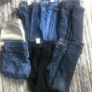 Abercrombie & Fitch 7 Piece Jean and Short Bundle